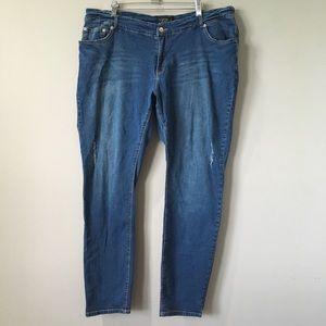 Eloquii | Skinny Distressed Jeans 18 Stretch